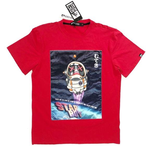 Men/'s Black Keys Lacoste-Theme T-shirt Red